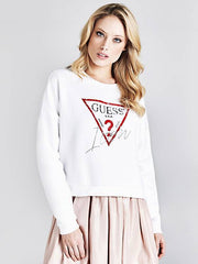 Guess Icon Sweatshirt - White