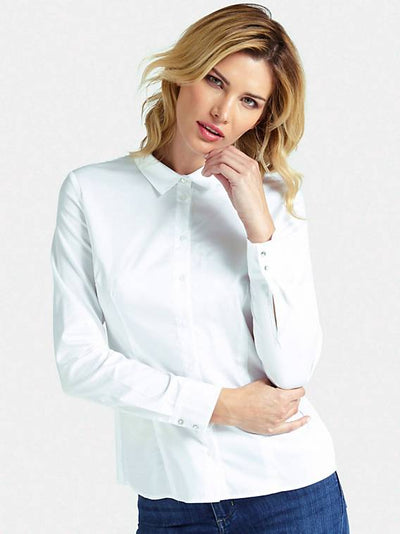 Guess Long Sleeve Cate Shirt - True White