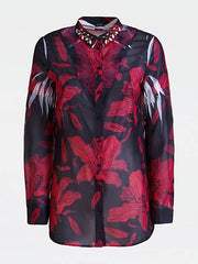 Guess Long Sleeve Clouis Shirt - Passion Flower Black