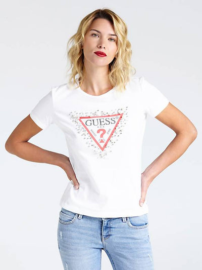Guess Pearls Tee - True White