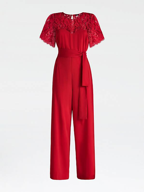 Guess Randi Overall Jumpsuit - Red