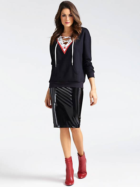 Guess Triangle Fleece - Jet Black