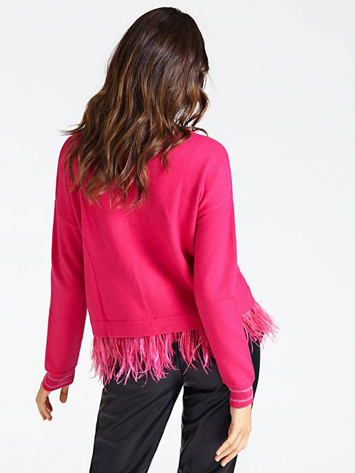 Guess Isotta Fringed Hem Sweater