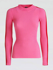 Guess Long Sleeve Round Neck Zelda Sweater - Pink