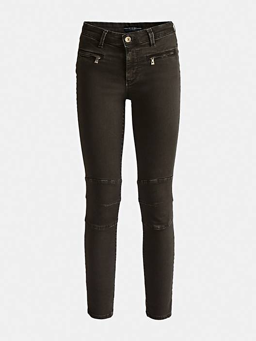 Guess Shanon Biker Jeans- Dark Green