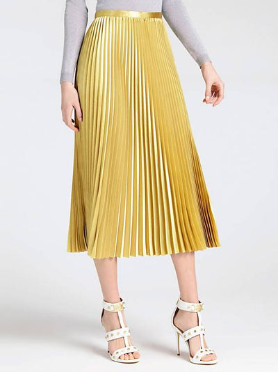 Guess Violet Skirt - Shiny Gold