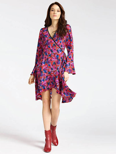 Guess Thea Dress - Red Multi