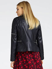 Guess Trinity Genuine Leather Jacket - Jet Black