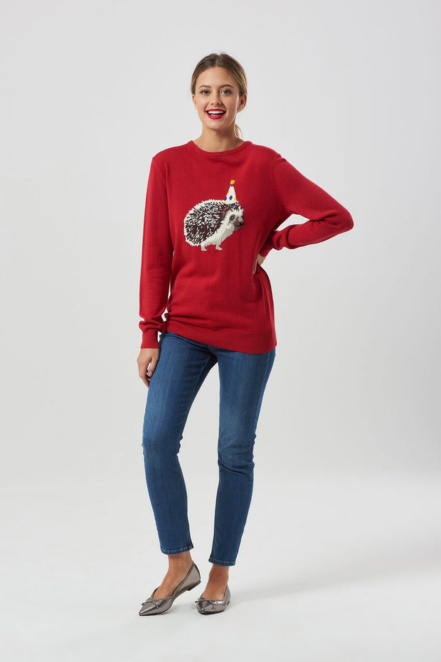 Rita Living On The Hedge Sweater - Red