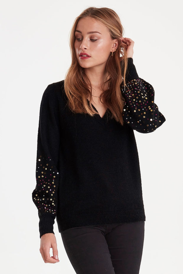 Dusty Long Sleeve Jumper - Black