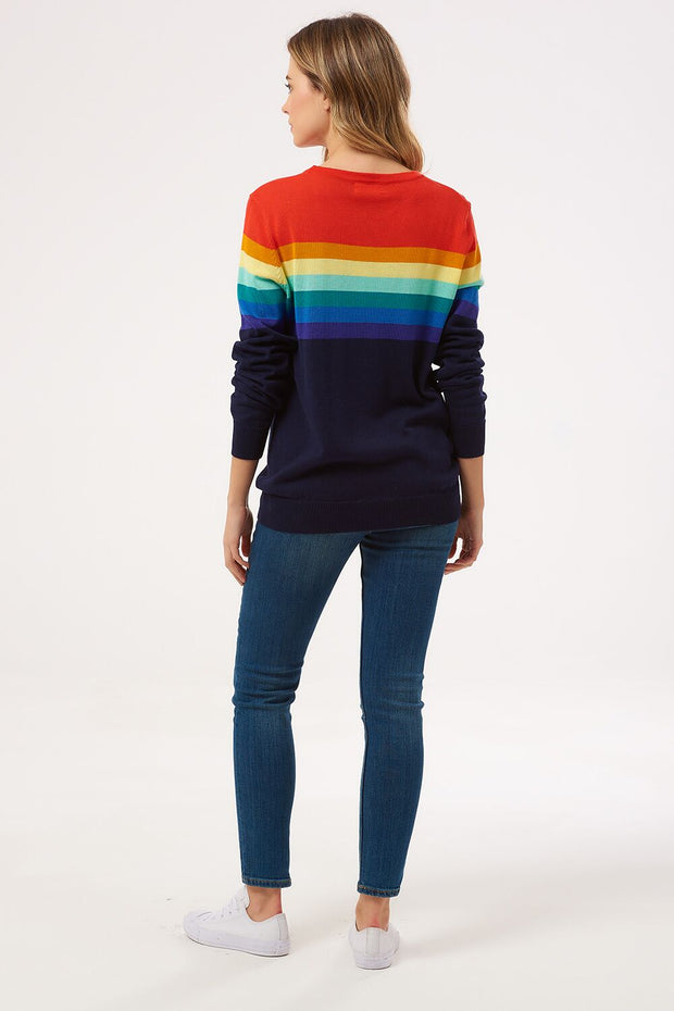Rita Retro Gradient Stripe Sweater - Multi