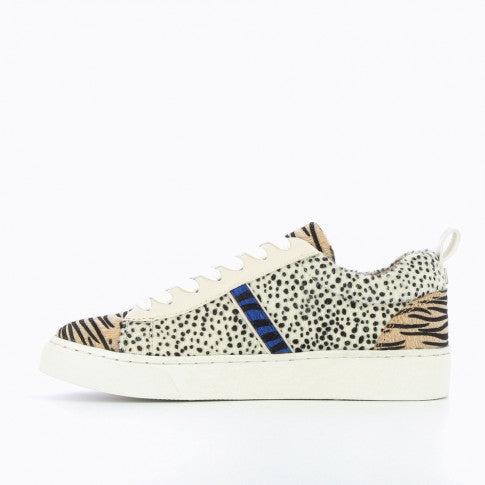 Cheetah Sneakers with Zebra Detail