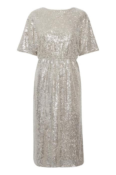 Jolene Sequin Dress - Frosted Almond