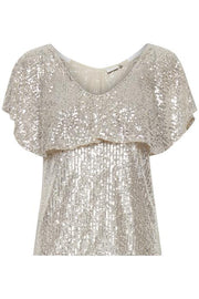 Jolene Sequin Top - Frosted Almond