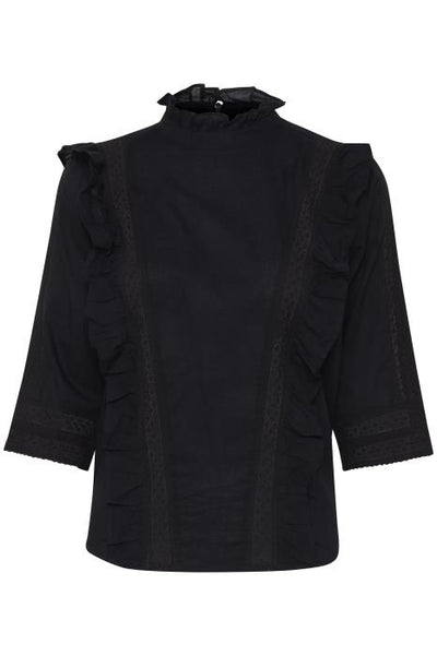 Ihtully Black Long Sleeve Top