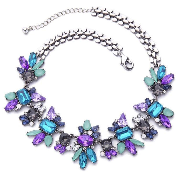 Gia Blue & Purple Chunky Necklace - N2