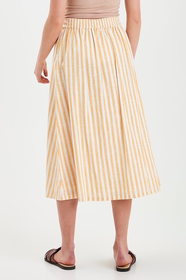 Gry Midi Skirt - Golden Yellow Stripe
