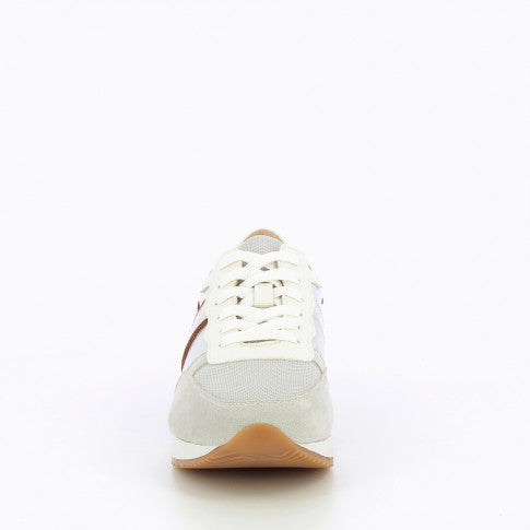 Grey Sneaker with Tan Stripe