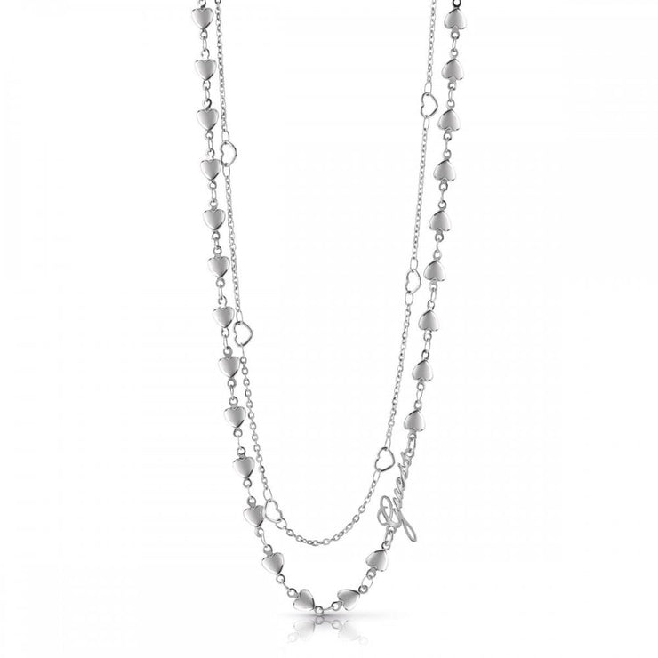 "Guess Shine On Me 16-18"" Necklace - Silver"