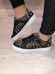 **PRE-ORDER** Guess Gallina Active Lady Sneaker - Leopard