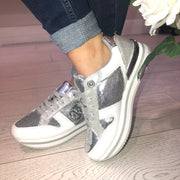 Guess Dameon Argent Sneaker - Silver