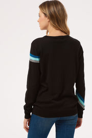 Rita ZAP! Lightning Bolt Sweater - Black/Blue
