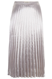 Lynette Metallic Pleated Skirt - Silver