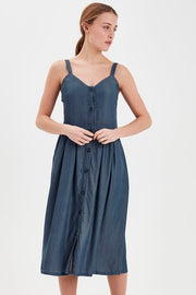 Lambrey Dress - Medium Blue