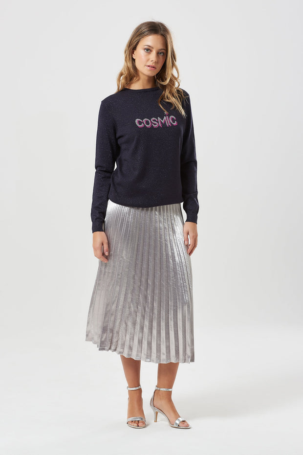 Rita Cosmic Sparkle Sweater - Navy