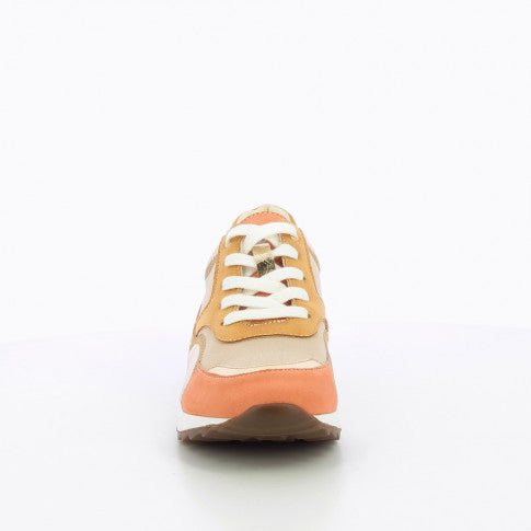 Salmon and Gold Sneakers