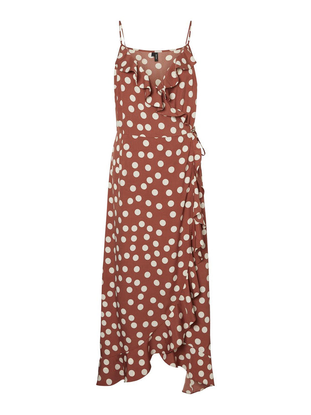 Hanna Polka Dot Wrap Dress