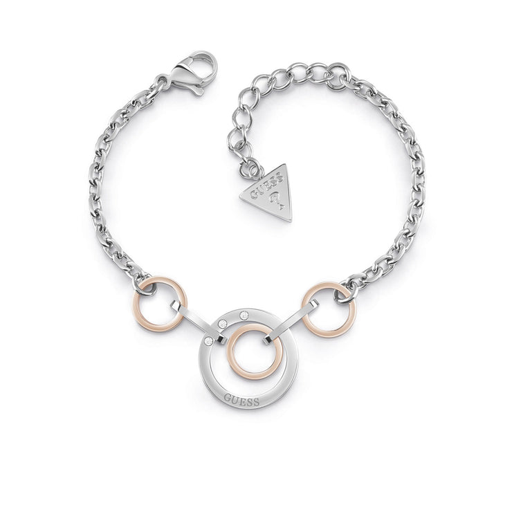 Guess Eternal Circles Bracelet - Silver/Rose Gold