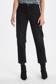 Twiggy Raven Mom Jeans - Black
