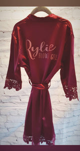 Personalised lace robes Leanne style