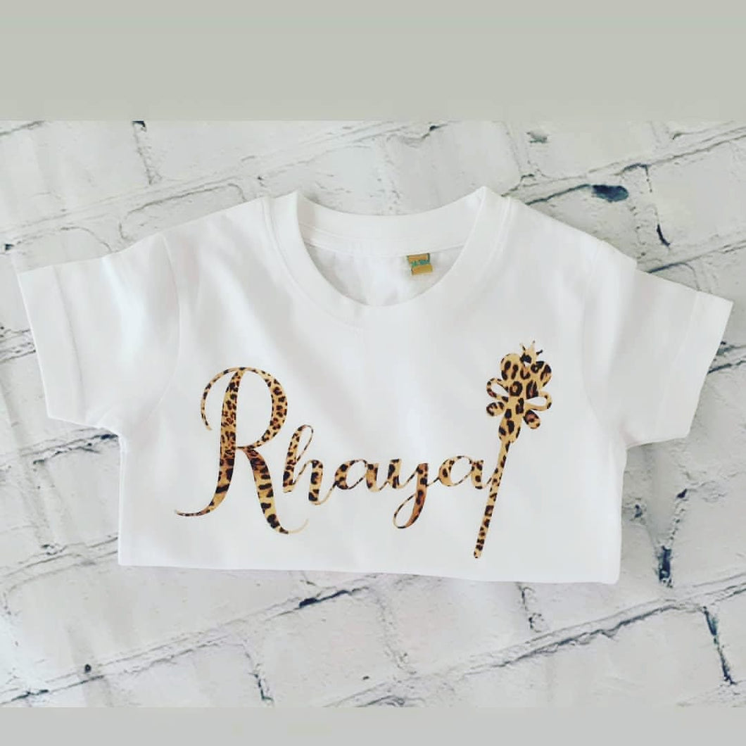 Kids figure personalised t-shirt