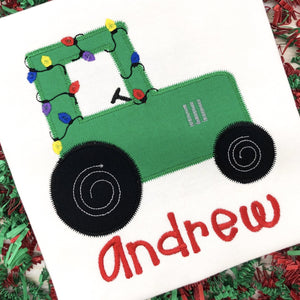Tractor Personalized Christmas Shirt/Bodysuit