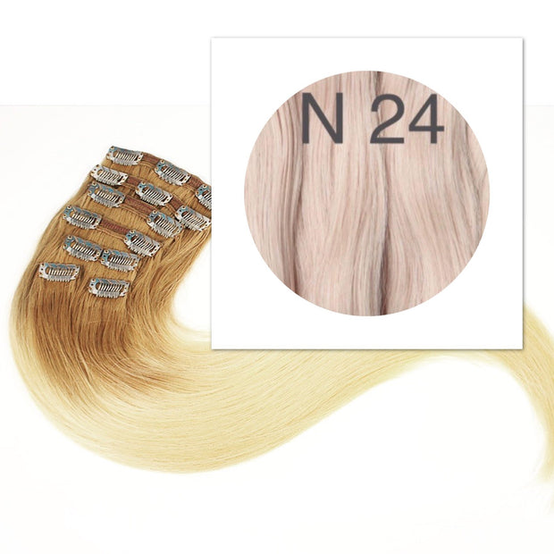 Clips 7 part Colors BLOND_Retail price - GVA hair