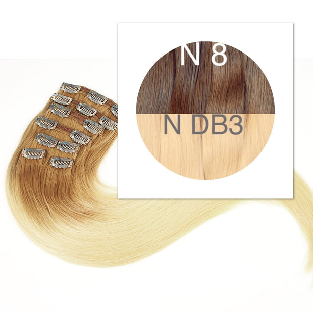 Clips Ombre 8 and DB3 Color GVA hair_Retail price - GVA hair