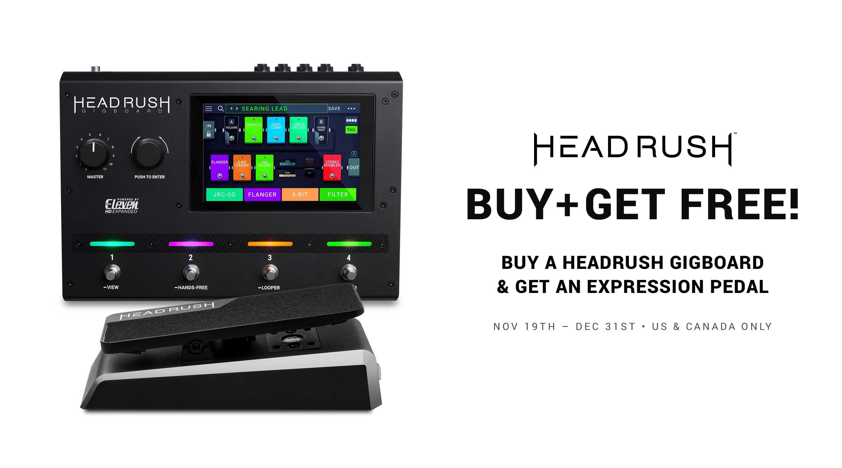 Headrush Holiday special: Buy a Gigboard and get an Expression Pedal free!