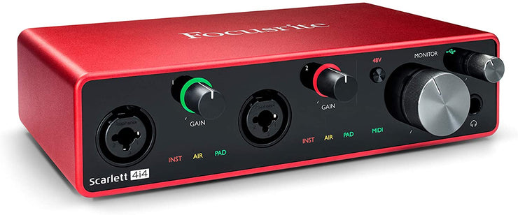 Scarlett 4i4 (3rd Gen) Audio Interface with 2 Mic Pres