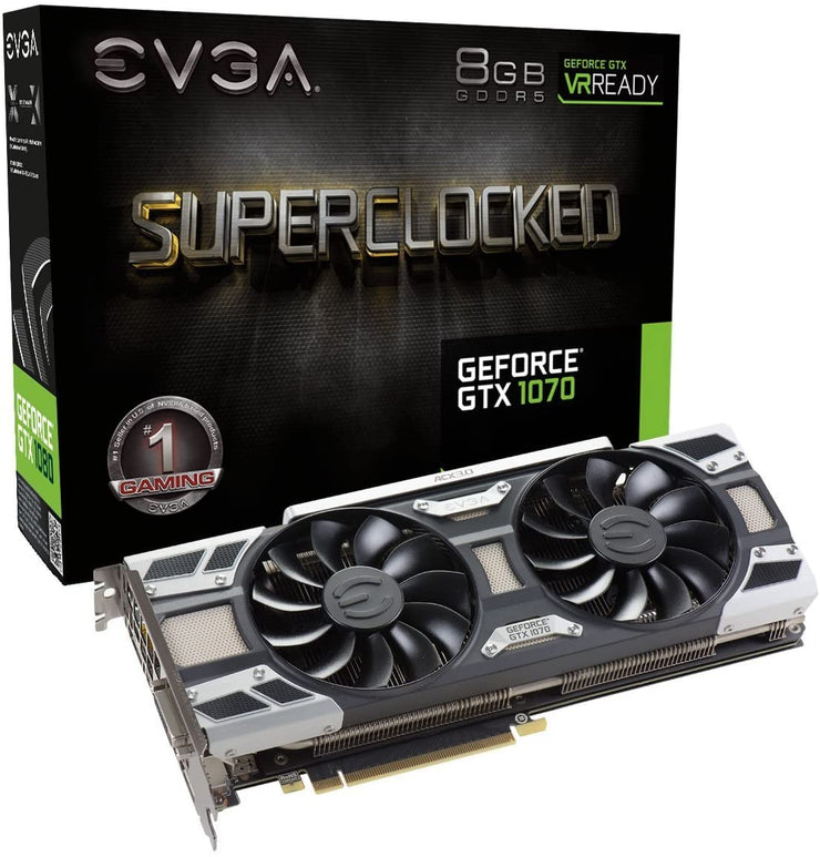 EVGA GeForce GTX 1070 SC GAMING ACX 3.0, 8GB GDDR5 Graphics Card