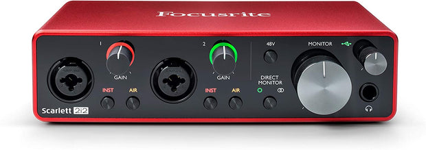 Scarlett 2i2 (Gen 3) Audio interface with 2 Mic Pres