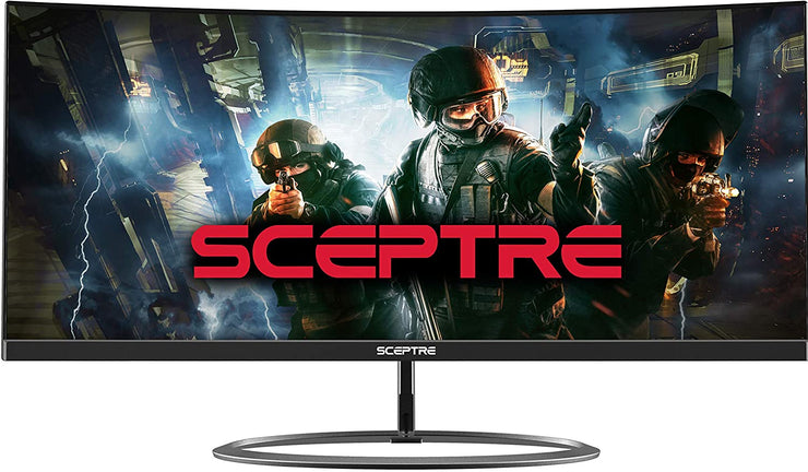 "Sceptre Curved 30"" 21: 9 Creative Monitor 2560x1080p Ultra Wide Ultra Slim HDMI DisplayPort Up to 85Hz MPRT 1ms FPS-RTS Build-in Speakers"