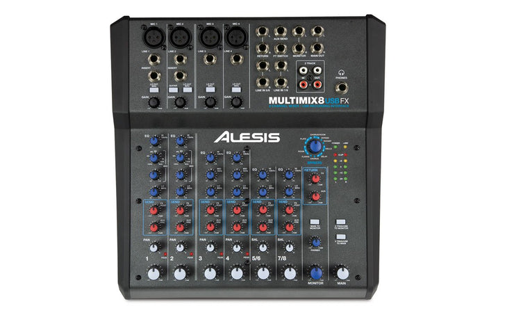 Alesis MultiMix 8 USB FX 8-Channel Mixer with Effects & USB Audio Interface