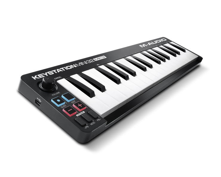 M-Audio Keystation Mini 32 MK3 Ultra Portable Mini USB MIDI Keyboard Controller