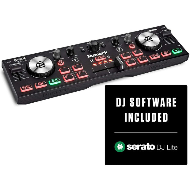 Numark DJ2GO2 Touch  Pocket DJ Controller with Capacitive Touch Jog Wheels