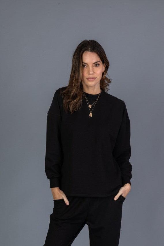 Basic Sweatshirt - Negro