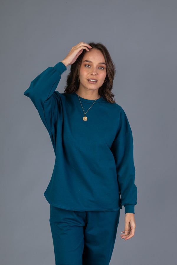 Basic Sweatshirt - Cobalto
