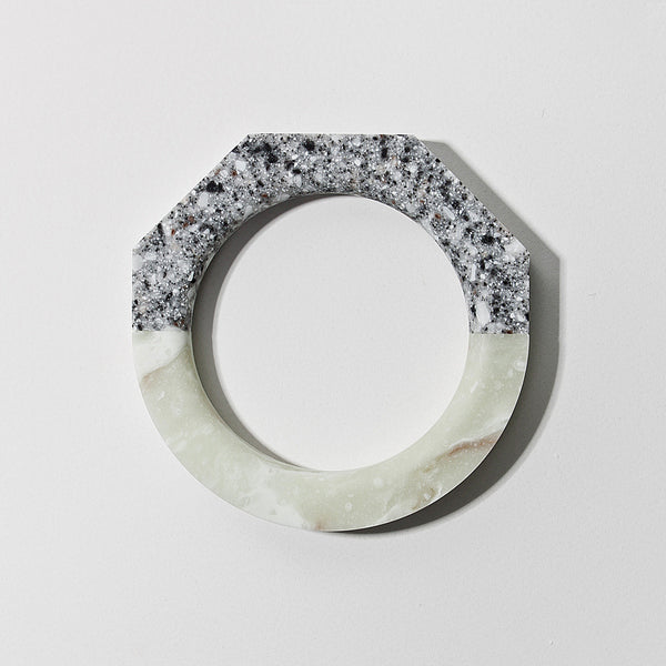 North South Bracelets, Staff Pick 5-Sided Platinum / Round Jasmine
