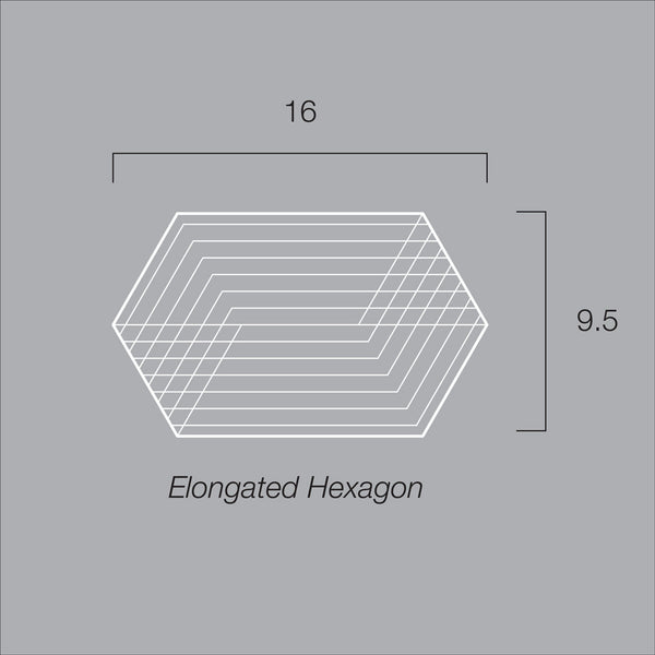 Moiré Trivet, Elongated Hexagon